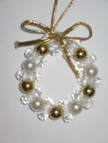 Craft Ideas Beads on The Magic Of Christmas  Craft Idea  Beaded Wreath